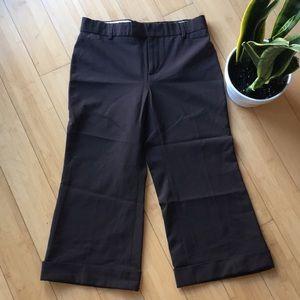 Gap brown crop pants slacks trousers